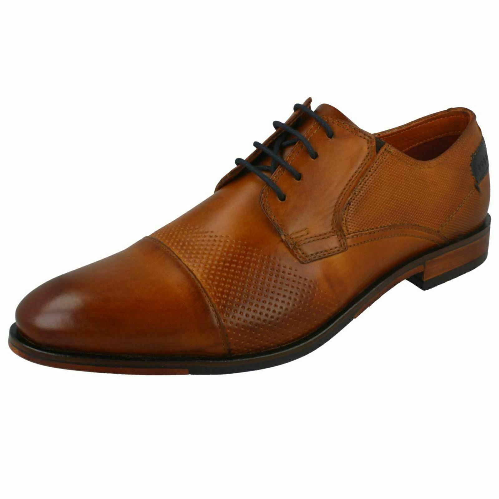 Hombre Bugatti Cagnac Cordones de Cuero Estilo Formal Zapatos Formales 1100