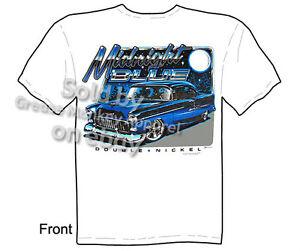 Midnight 1955 Chevy T Shirt Classic Car Shirts 55 Bel Air Tee Sz