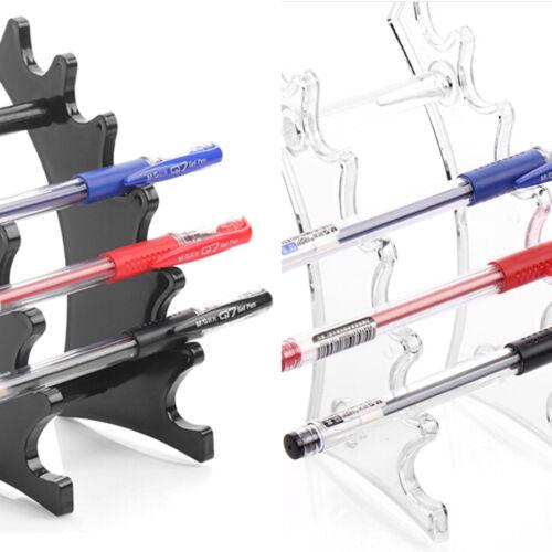 Pencil Pen Makeup Brush Eyebrow Acrylic Display Stand Rack Organizer Holder@#