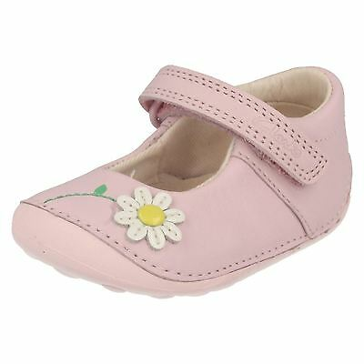 Clarks Girls Little Jam Baby Pink Leather Or Navy Patent First Shoe Cruisers