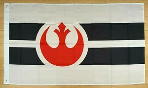 White Star Wars Rebel Alliance 3x5 ft Flag Banner