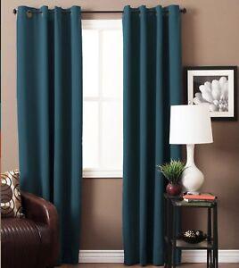 Image Is Loading Room Darkening Blackout Curtains Door Window Panel Drapes