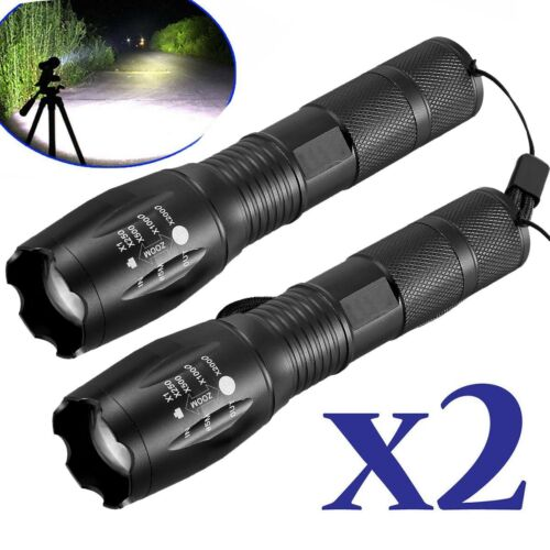 60000LM T6 LED 18650 Super Bright 5-Mode Zoom Flashlight Powerful Lamp Torch UK