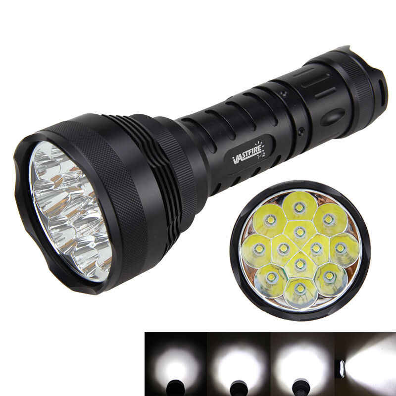 30000lm 12x XM-L T6 LED Torch 5 Modes Tactical Flashlight Torch LED Light Lamp 6x 18650 DY 6e2c37