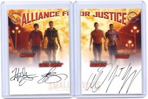 Smallville-Alliance-For-Justice-Kyle-Justin-Alan-Lee-autograph-card-set-AJA-AJB