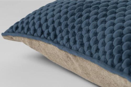 Denim Evergreen /& Rosewood Colours Sheridan Emington Cushion in Carbon