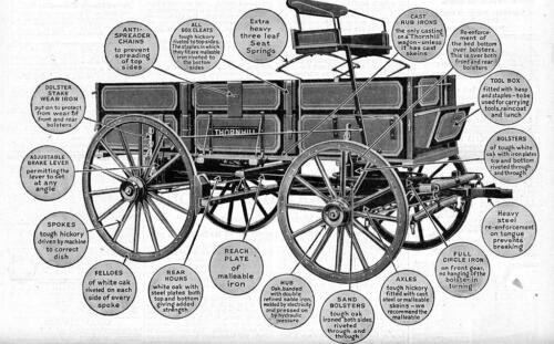 Old Print 1920 Thornhill Wagons Ad