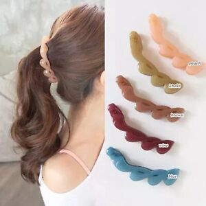 5Pcs-Jelly-Color-Plastic-Banana-Hair-Clips-Comb-Claw-Ponytail-Holder-105mm