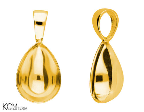 bail gold-plated silver Pendant for Swarovski 4320 14 mm w 122