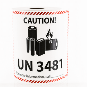 Lithium Ion Battery Shipping Un 3481 Large Sticker Label