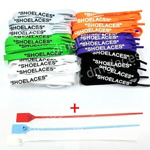 """SHOELACES"""" Flat Laces For Off-White"""