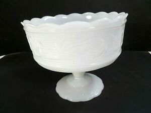 EO-Brody-White-Milk-Glass-Compote-Candy-Dish-Decorative-Bowl-M6000