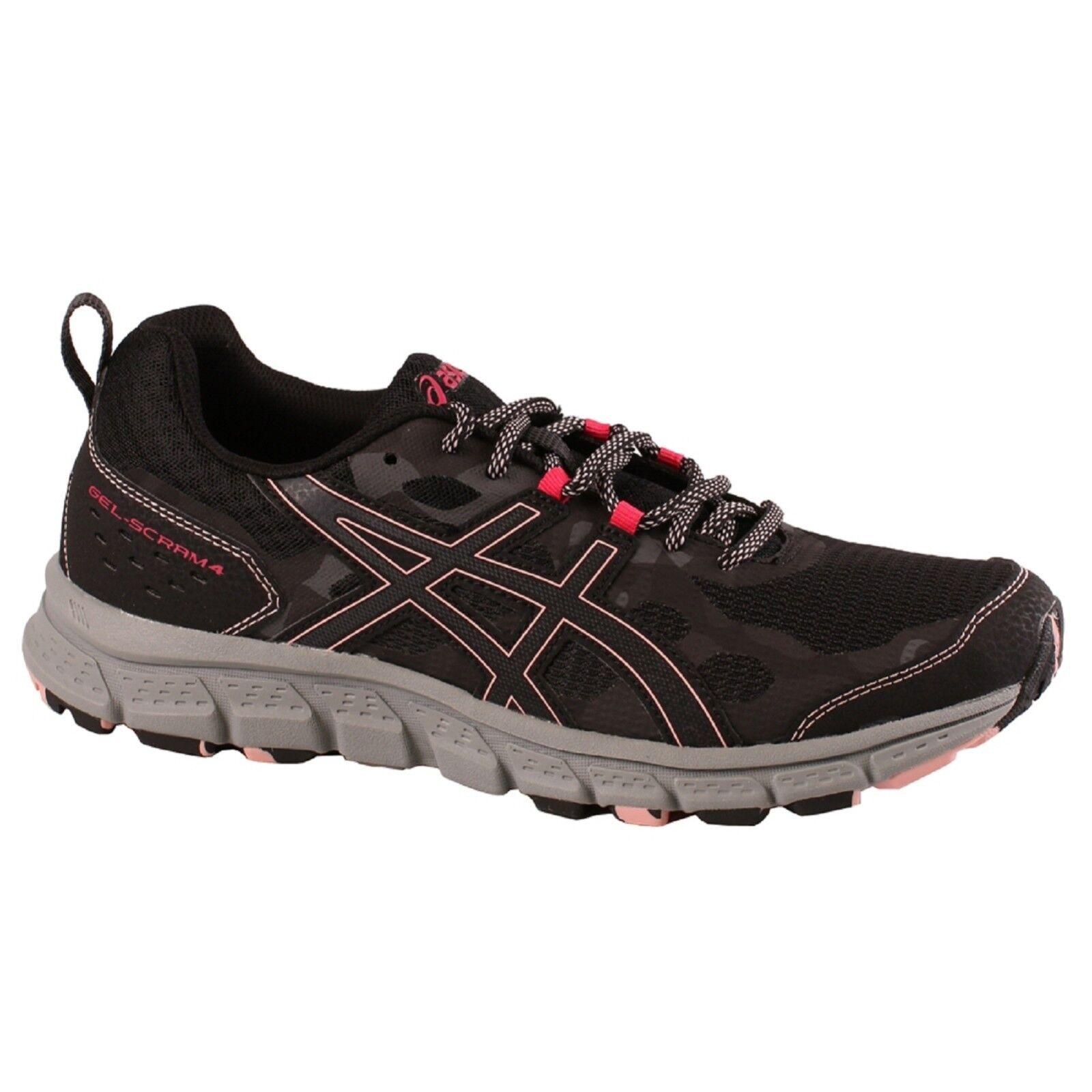 Women's Asics GEL-SCRAM 4 Price reduction 1012A170/001 Black/Dark Grey Lace-Up Running Shoes Brand discount