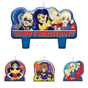 Image Is Loading DC Super Hero Girls Birthday Candles Cake Toppers