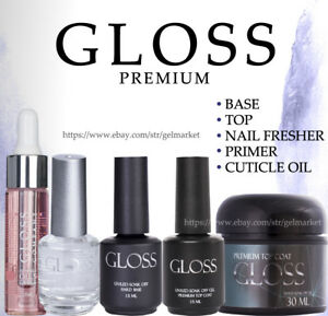GLOSS-premium-Gel-Nail-Polish-Top-Coat-Base-No-Sticky-Matte-like-ORIGINAL