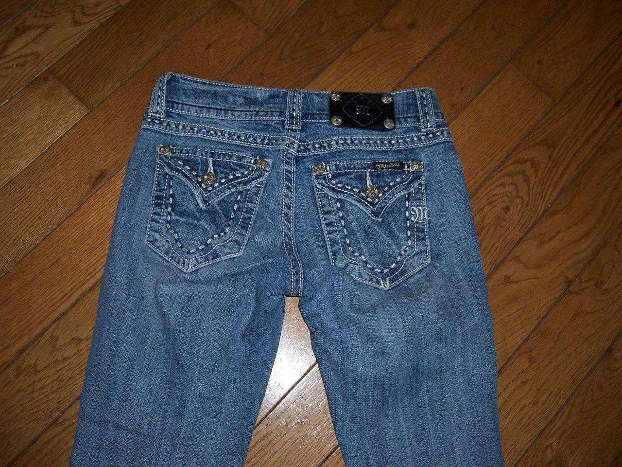 MISS ME BOOT JPW5067 BOOTCUT DISTRESSED JEANS SIZE 27 98% COTTON WOMEN'S