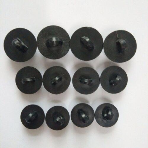 50 bouton scrapbooking tige unis Noir mercerie couture 9 mm couture œil ourson