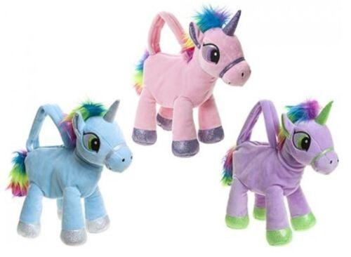 25cm UNICORN SHAPED HAND BAG Unicorn Plush Toy Girls Gift Present My Pony Toy