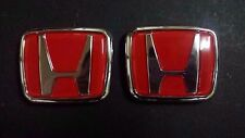 New Civic Integra Type R DC2 EK9 Front + Rear H Emblem Red EG EF CD5 S2A DC1 DB8
