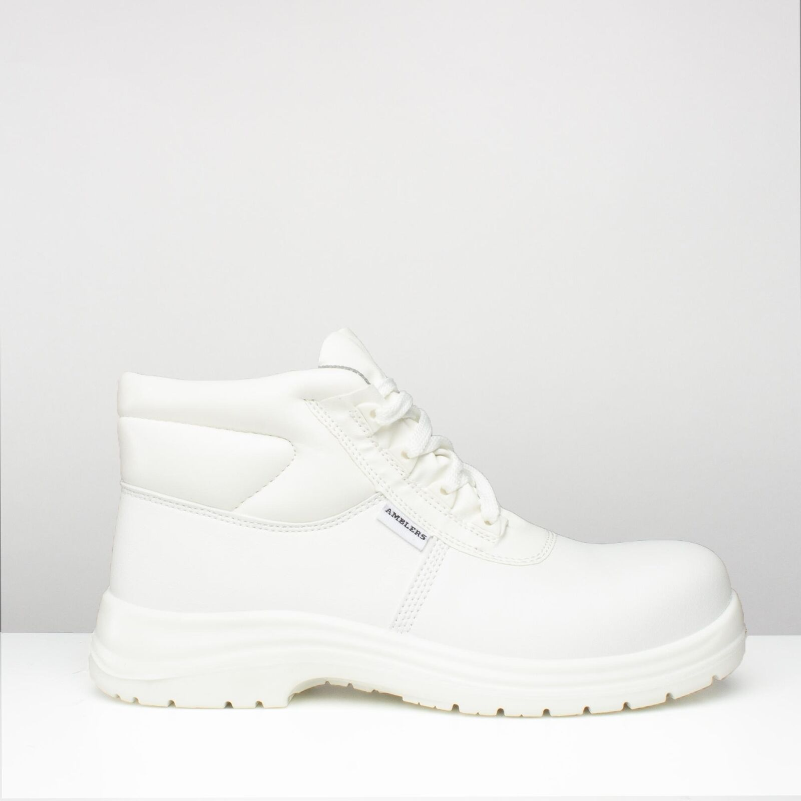Amblers Safety FS513 Unisex Mens Womens Ladies Safety Ankle Work Boots White