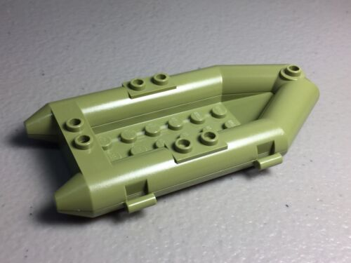 LEGO Minifigure BOAT Olive Green Raft NEW City Toy Boat 30086 Small 30086