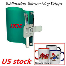 15oz Sublimation Silicone Mug Wraps For 15oz Mugs 3d Rubber Mug Clamps