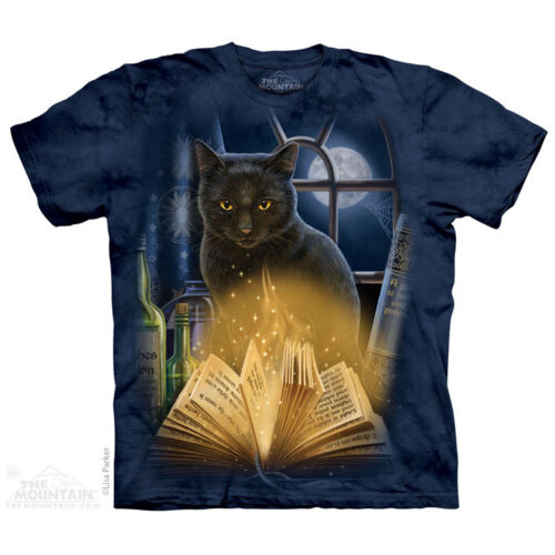 THE MOUNTAIN BEWITCHED BLACK CAT ANIMAL MAGIC MYSTICAL NATURE MENS T SHIRT S-5XL