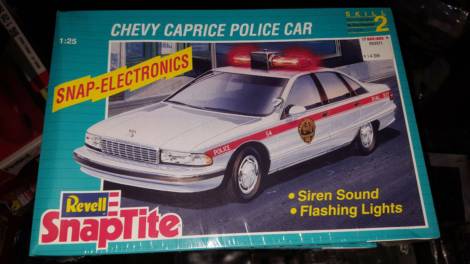 1 25 Chevy Caprice Police Car siren sound flashing lights Revell sealed