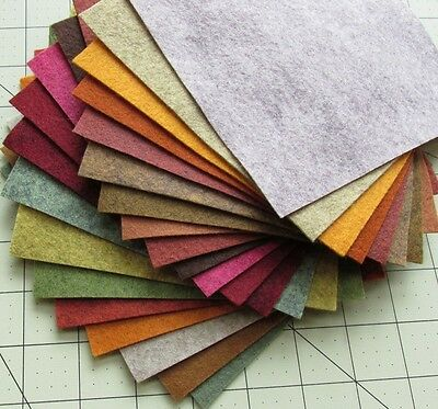 "21 - 6""X12""  Fall Colors Collection - Merino Wool blend Felt Sheets"