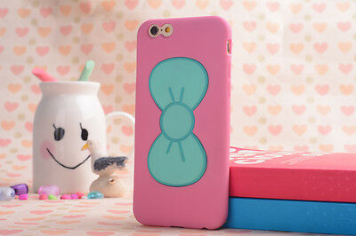 3D Cute Lovely Butterfly Bow Case Cover Stand Holder For iPhone Samsung Galaxy