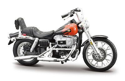 Harley-Davidson 1980 fxwg Wide Glide 1:24 moto modelo la-CAST MODEL