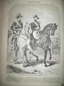 NAPOLEON-III-ET-VICTOR-EMMANUEL-II-BERSAGLIERI-BATAILLE-MAGENTA-GRAVURES-1859