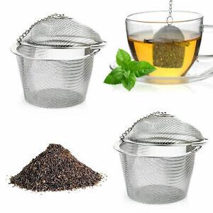 En acier inoxydable seau maille boule à thé infuseur soupe café-filtre