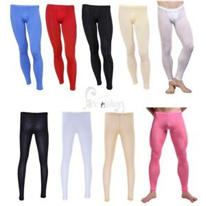 586e442c2534e3 Sexy Men's Sheer Mesh Leggings Fitness Tight Long Johns Pants ...