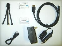 Accessory Kit Usb Cable + Batteries + Charger + Hdmi Cable + Tripod For Samsung