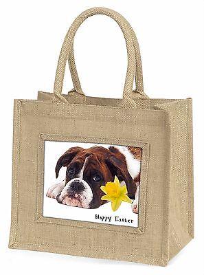 Boxer Hund 'Personalisiert' Große Natürliche Jute-einkaufstasche Weihnachten,