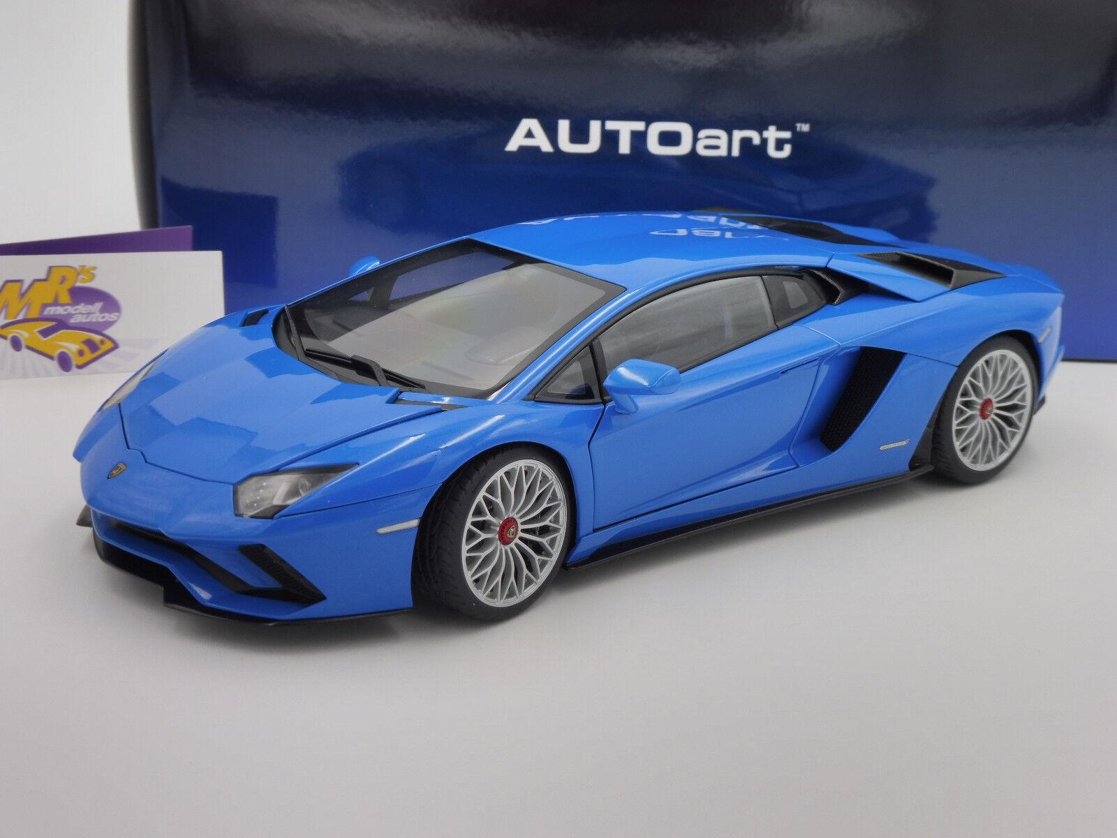 AUTOART 79134   Lamborghini Aventador S Année 2017  Pearl bleu  1 18 NEUF