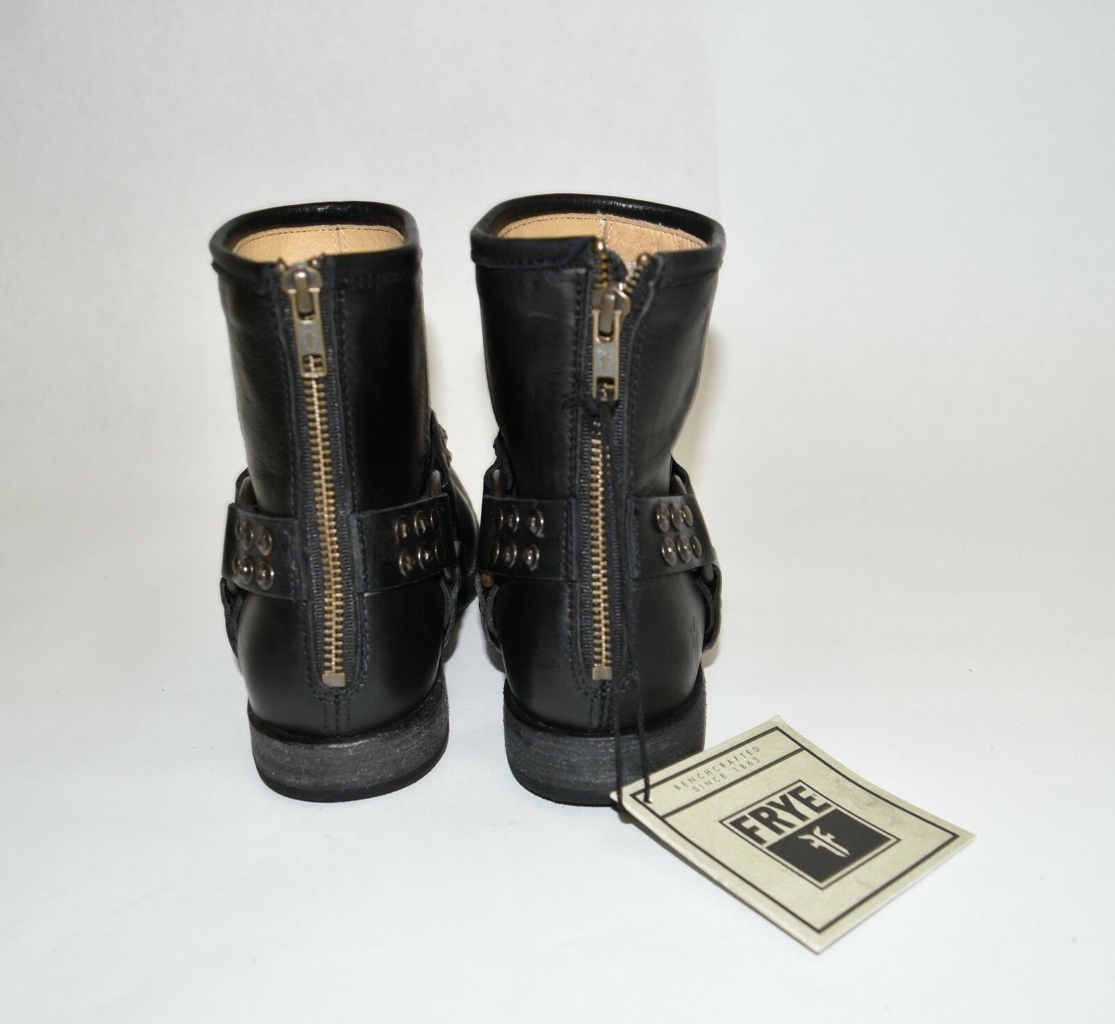 New New New  Frye 'Phillip' Studded Harness Bootie Black Leather Size 7 3476491 T36 18038c