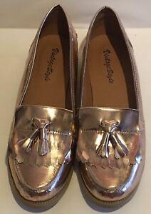Style Vintage Ladies 6 Size Loafers Shoes Fringe Tassle Pqppzxd5