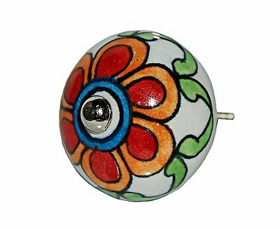 AS MANY* NEW CERAMIC RED FLOWER DOOR KNOBS/HANDLES
