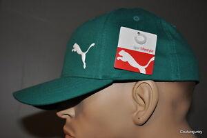 Puma-TeamSport-Form-Flex-Fit-Hat-Green-Size-S-M-MSRP-26-00