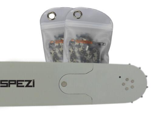 """2 Ketten passend für Husqvarna 371 130 cm 3//8/"""" 156 TG 1,6 mm Sägekette Schwert"""