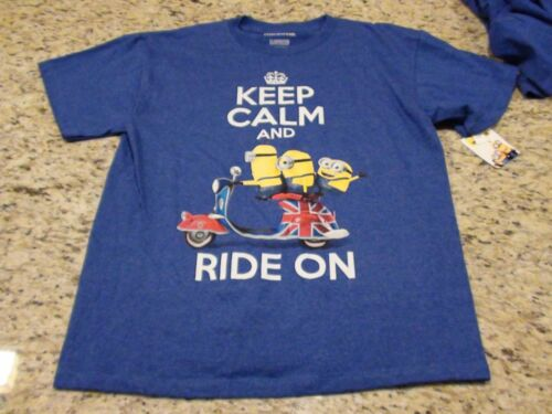NWT Minions Keep Calm and Ride On Boy/'s Youth Tshirt Size XS S L XL