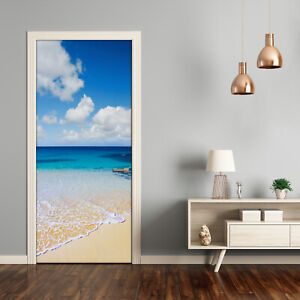 Home-Mural-Door-Wall-Self-Adhesive-Removable-Sticker-Landscapes-Tropical-beach