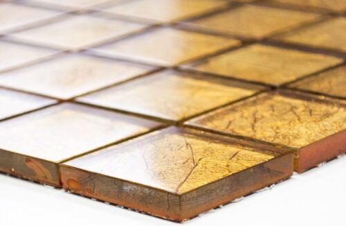 Glasmosaik gold Struktur Wandverblender Sauna Bad Küche120-0786/_f10 Matten