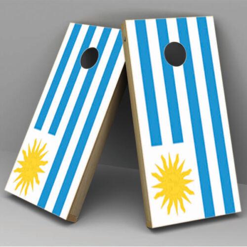 Uruguay Flag Cornhole Board Vinyl Sticker Wrap uruguay-cornhole