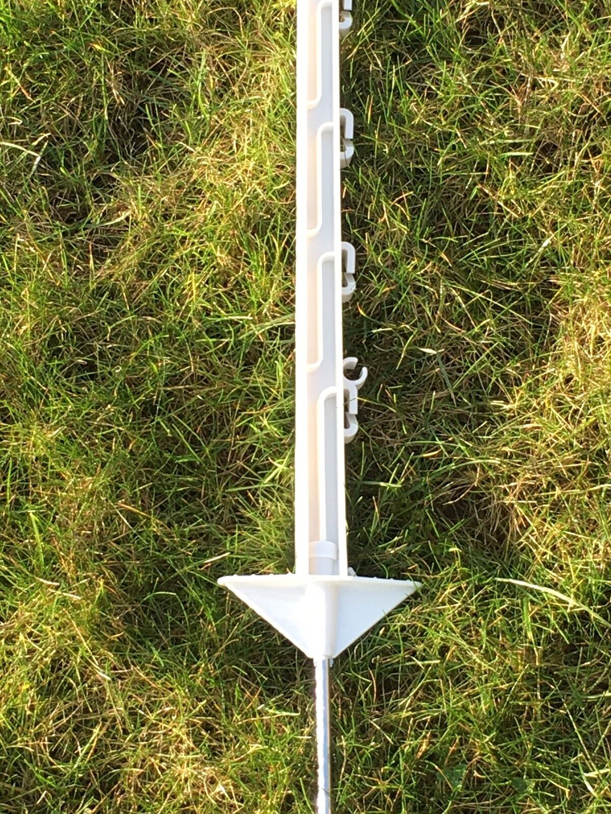 FENCEMAN 20 X WHITE 5FT POLY POSTS - HORSE POST 150cm Tall Electric Fence 4ft 6