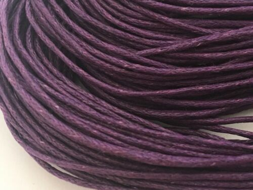 1mm Jewellery Cord dark deep purple  Waxed 60m perfect for jewellery making