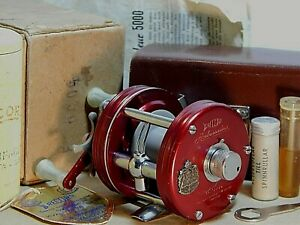 '52 Vintage Record AMBASSADEUR 5000 Mod.SG baitcasting reel in box+case+xclnt++