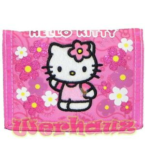 Hello Kitty trifold Wallet Spring bloom 82588 Pink, New